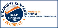 ICAP - Strongest companies in greece - Optical Παπαδιαμαντόπουλος