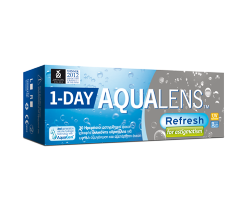 Meyers - Aqualens MEYERS - AQUALENS REFRESH ONE DAY For ASTIGMATISM - ΑΣΤΙΓΜΑΤΙΣΜΟΥ - ΗΜΕΡΗΣΙΟΙ - 30 ΦΑΚΟΙ
