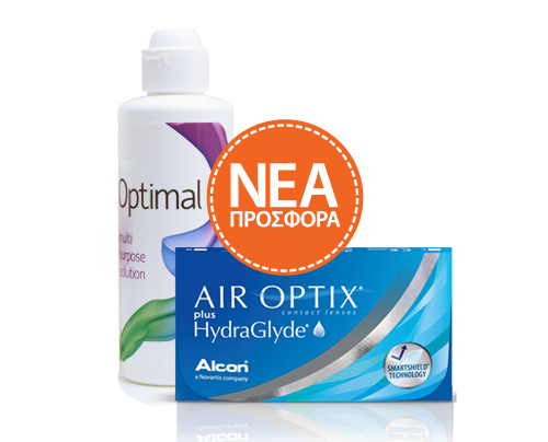 Alcon / Ciba Vision  AIR OPTIX plus HydraGlyde  6pck+ Optimal 360ml