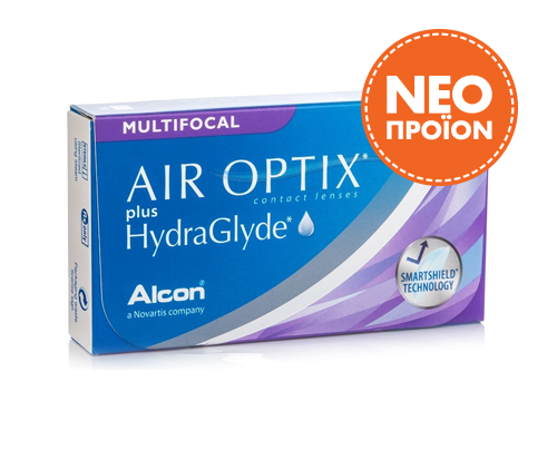 Alcon / Ciba Vision  ALCON - AIR OPTIX plus HydraGlyde MULTIFOCAL  -ΠΟΛΥΕΣΤΙΑΚΟΣ - ΜΗΝΙΑΙΟΙ - 6 ΦΑΚΟΙ