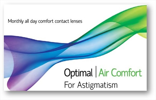 Optimal Vision OPTIMAL VISION Optimal Air Comfort For Astigmatism - ΑΣΤΙΓΜΑΤΙΣΜΟΥ - ΜΗΝΙΑΙΟΙ - 3 φακοί